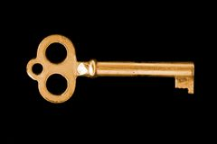 Gold vintage key royalty free stock photos