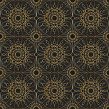 Gold vintage lace, seamless ornament. Vector Stock Illustration