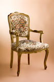 Gold vintage luxury armchair Royalty Free Stock Images