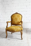Gold vintage luxury armchair with clipping path Stock Photography