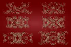 Gold vintage pattern Royalty Free Stock Images