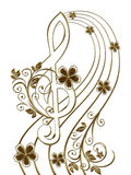 Gold vintage Pattern. Royalty Free Stock Photo