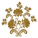 Gold vintage Pattern. stock images