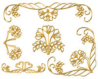 Gold vintage Pattern. royalty free stock images