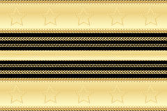 Gold vintage pattern and frame elements casino style with stars and swirls on black background Royalty Free Stock Image