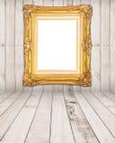 Gold vintage photo frame Stock Image