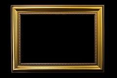 Gold Vintage photo frames. For design art work Royalty Free Stock Image