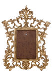 Gold vintage picture frame Royalty Free Stock Images