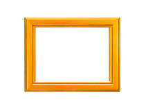Gold Vintage picture frame on white background Royalty Free Stock Images