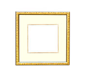 Gold Vintage picture frame on white background Royalty Free Stock Image