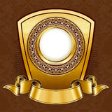 Gold vintage plate Royalty Free Stock Photos