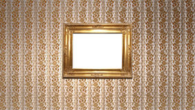 Gold vintage square Royalty Free Stock Photography