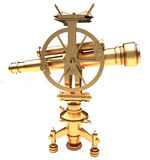 Gold vintage theodolite Stock Photo