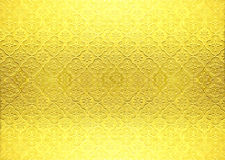 Gold vintage wallpaper Royalty Free Stock Image