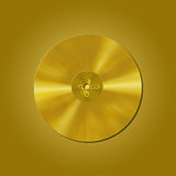 Gold vinyl record Stock Photos