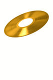 Gold vinyl record Stock Images