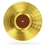 Gold vinyl record Stock Image