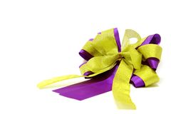 Gold and violet ribbon Stock Photo