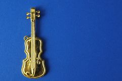 Gold Violin Stock Photo