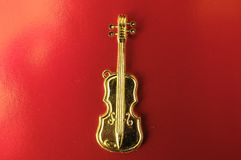 Gold Violin Royalty Free Stock Image