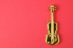 Gold Violin Royalty Free Stock Photography