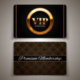 Gold VIP cards, vector illustration Royalty Free Stock Photography