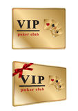Gold VIP club card Royalty Free Stock Images