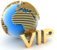 Gold VIP globe Stock Photo