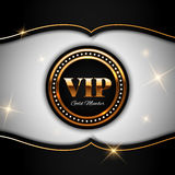 Gold VIP vector illustration Royalty Free Stock Image