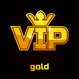 Gold Vip vector symbol, set 1. Gold Vip vector symbol on black background, set 1 Royalty Free Stock Photo