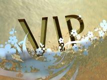 Gold-VIP-Zeichen Lizenzfreies Stockfoto