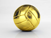 Gold volley ball. Isolated classic gold volley ball Royalty Free Stock Photo