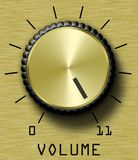 Gold Volume Control Eleven Stock Image