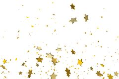 Gold volumetric star-confetti