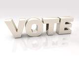 Gold Vote 3D Text over a white background Royalty Free Stock Photo
