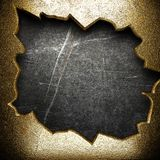 Gold on the wall Royalty Free Stock Photo