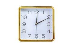 Gold wall clock Stock Photos
