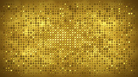 Gold wall with flashing lights abstract background Stock Photography