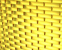 Gold wall golden bricks endlessly Stock Photos