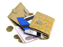 Gold wallet pocket. Stock Images