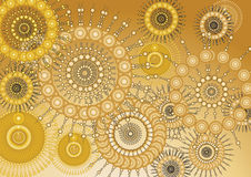 Gold Wallpaper Abstract Royalty Free Stock Photo