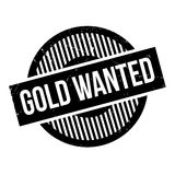 Gold Wanted rubber stamp Stock Image
