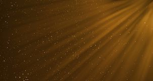 Gold warm color bright lens flare rays flashes leak movement for transitions on black background, for movie titles and