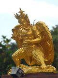 Gold warrior statue Royalty Free Stock Images