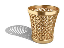 Gold wastepaper basket empty Stock Photos