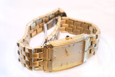 Gold watch Royalty Free Stock Photos