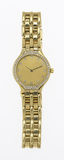 Gold watch. Women's 18k gold diamond studded watch and band Royalty Free Stock Image