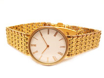 Gold watch Royalty Free Stock Image