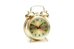 Gold watch isolated Royalty Free Stock Photography