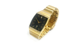 Gold Watch Isolated Stock Photo